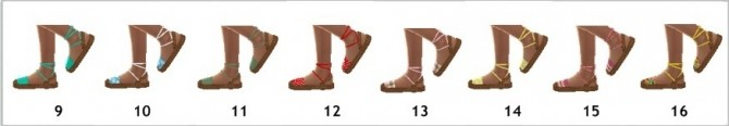 Sims 4 S4NEXUS' ANKLE TIED SANDALS (CF) at Sims4Sue