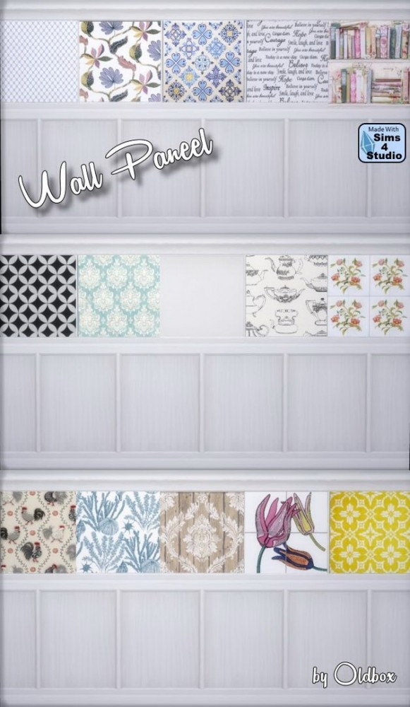 Sims 4 Wall panel by Oldbox at All 4 Sims