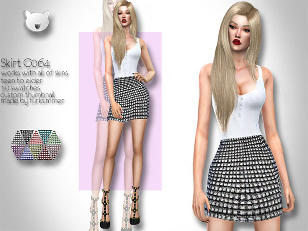 Skirt C064 by turksimmer at TSR image 2312 Sims 4 Updates