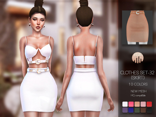 Sims 4 Clothes SET 32 (SKIRT) BD127 by busra tr at TSR