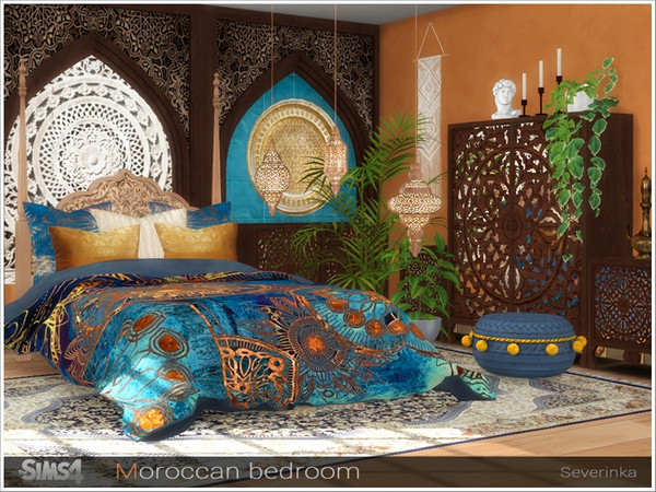 Moroccan bedroom by Severinka at TSR image 233 Sims 4 Updates