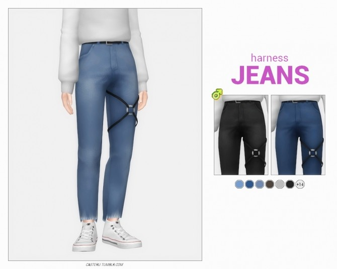 Harness & cut off jeans at Casteru image 2332 670x536 Sims 4 Updates