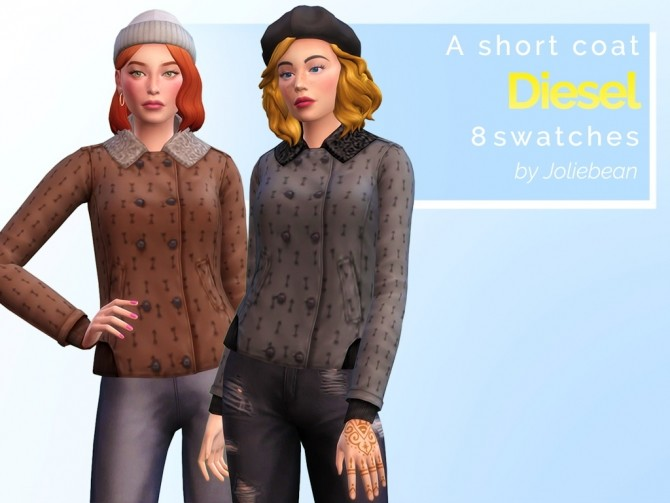 Diesel short coat at Joliebean image 2351 670x503 Sims 4 Updates