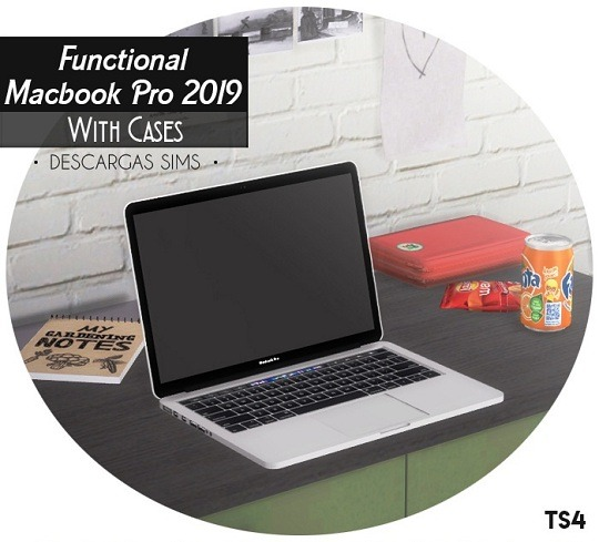 Sims 4 Functional MacBook Pro 2019 with cases at Descargas Sims
