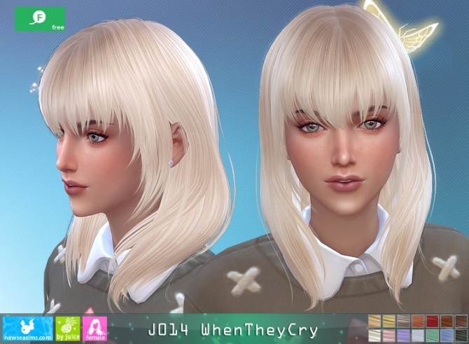 Sims 4 J014 WhenTheyCry hair at Newsea Sims 4