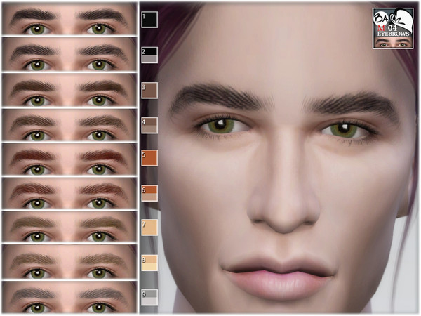 Sims 4 Male eyebrows 04 by BAkalia at TSR