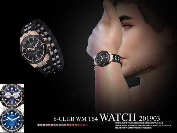 Sims 4 Watch 201903 by S Club WM at TSR