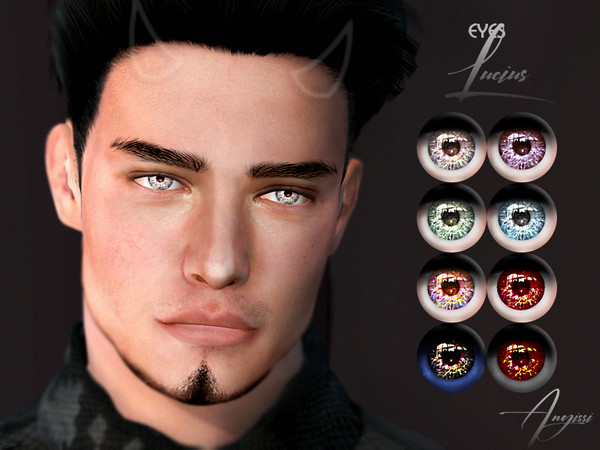 Sims 4 Lucius eyes by ANGISSI at TSR
