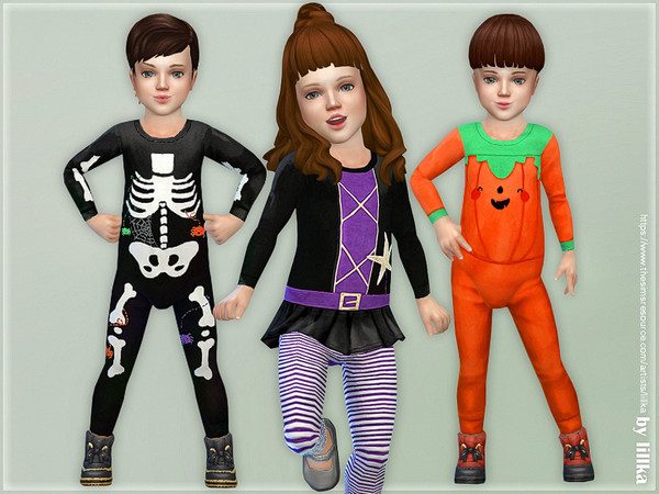 Sims 4 Toddler Halloween Outfits by lillka at TSR