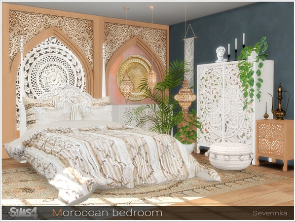 Moroccan bedroom by Severinka at TSR image 243 Sims 4 Updates