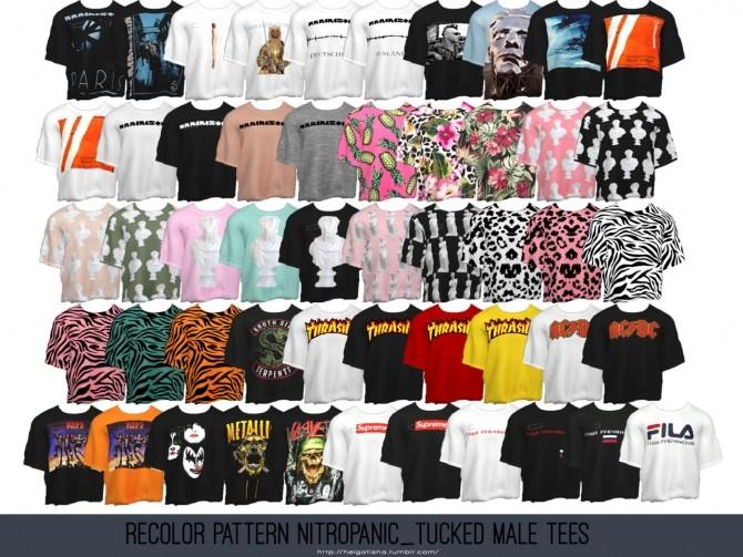 Recolor Pattern NitroPanic Tucked Male Tees at Helga Tisha image 2461 670x503 Sims 4 Updates