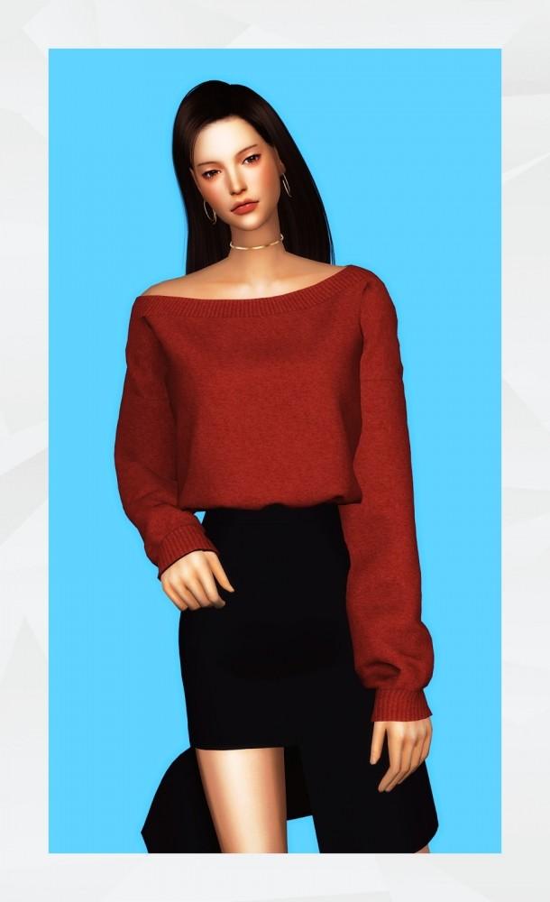 Sims 4 Unbalanced Sweatshirt at Gorilla