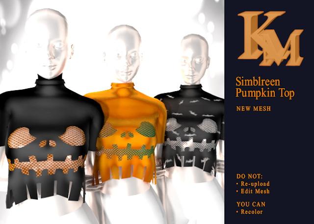 Sims 4 Simblreen Pumpkin Top at KM