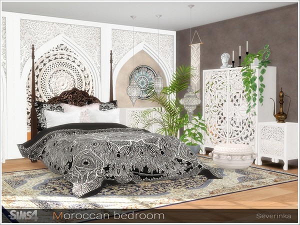 Moroccan bedroom by Severinka at TSR image 253 Sims 4 Updates