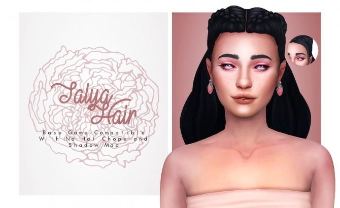 Sims 4 Talya Hair at Isjao – working on uni