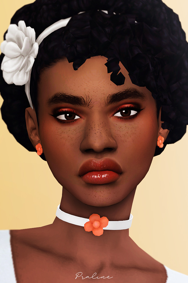 Sims 4 Love blossom earrings and chokers at Praline Sims
