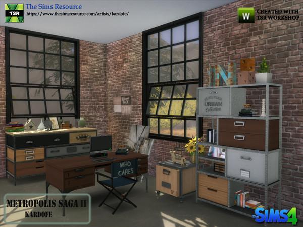 Sims 4 Metropolis Saga II studio by kardofe at TSR