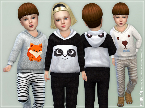 Hooded Overall for Toddler by lillka at TSR image 2613 Sims 4 Updates