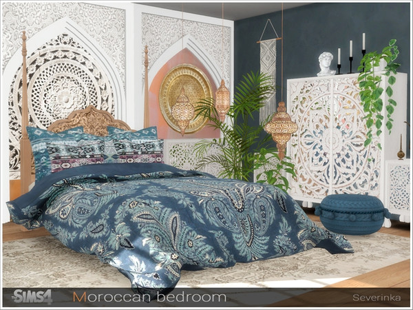 Moroccan bedroom by Severinka at TSR image 263 Sims 4 Updates