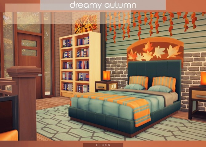 Sims 4 Dreamy Autumn house at Cross Design