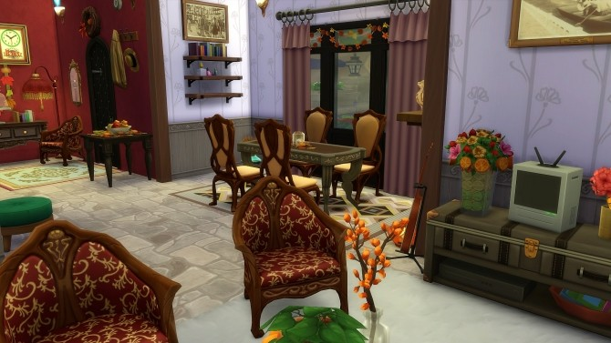 Dahlia house by Angerouge at Studio Sims Creation image 2761 670x377 Sims 4 Updates