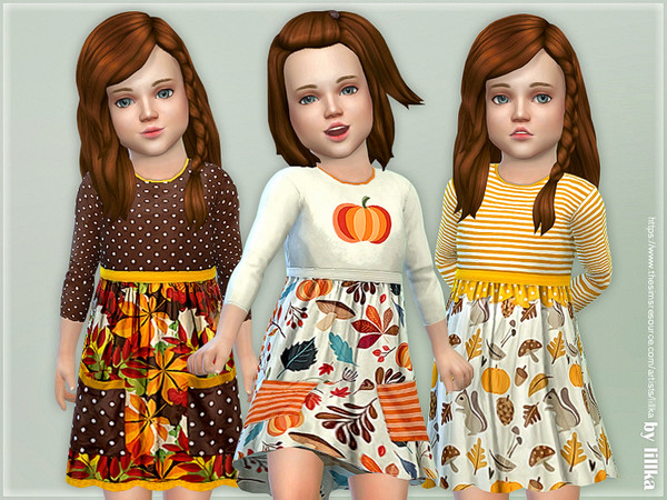 Sims 4 Toddler Dresses Collection P113 by lillka at TSR