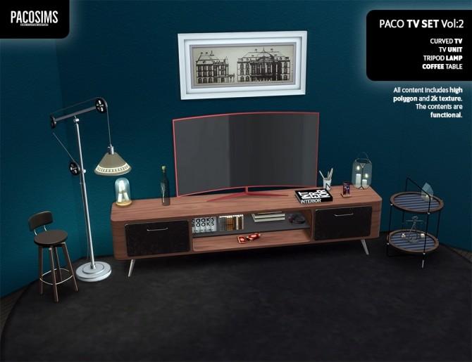 Sims 4 TV SET Vol:2 (P) at Paco Sims