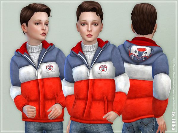 Winter Jacket for Boys 03 by lillka at TSR image 2816 Sims 4 Updates