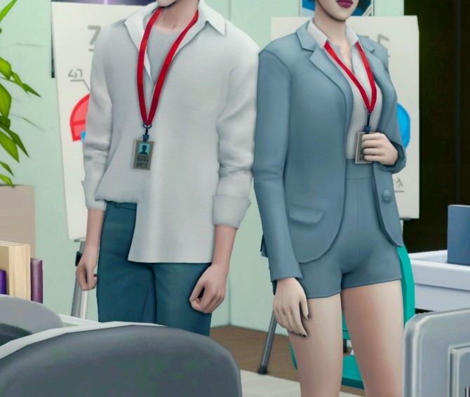 Sims 4 Employee ID card at EFFIE