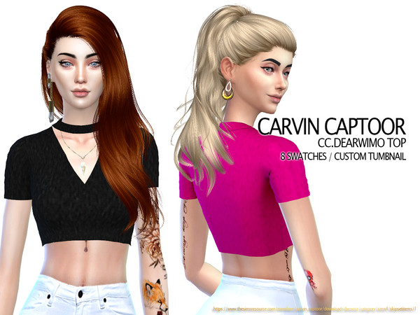 Sims 4 Dearwimo top by carvin captoor at TSR