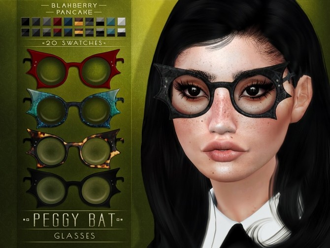 Sims 4 Peggy bat glasses at Blahberry Pancake