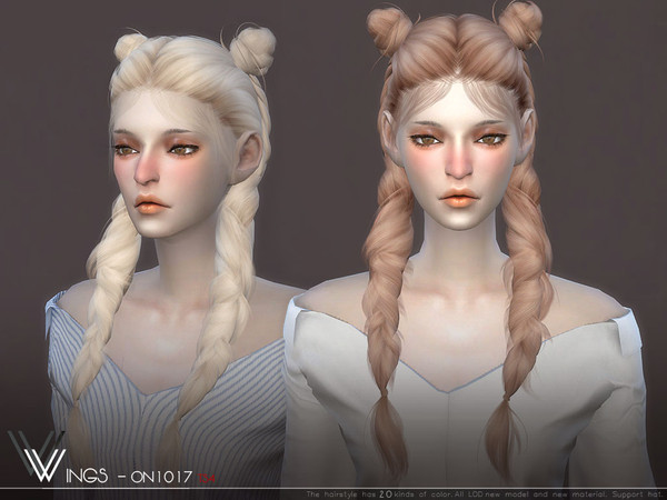 Sims 4 WINGS ON1017 hair by wingssims at TSR