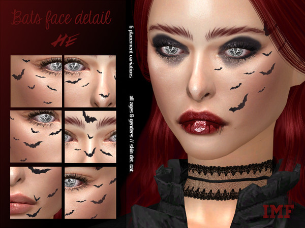 Sims 4 IMF Bats Face Detail by IzzieMcFire at TSR