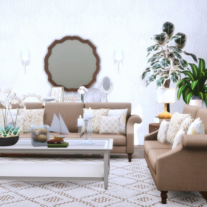 Gwendoline Sofa Suite Classic Scroll Arm Style at Simsational Designs image 299 670x670 Sims 4 Updates