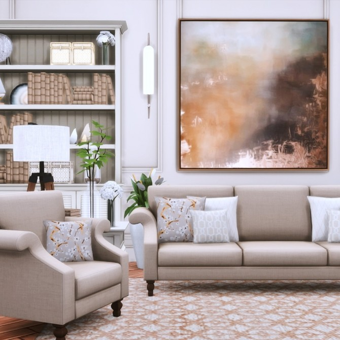 Gwendoline Sofa Suite Classic Scroll Arm Style at Simsational Designs image 300 670x670 Sims 4 Updates