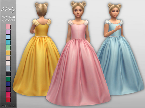 Melody Dress (Child) by Sifix at TSR image 3015 Sims 4 Updates
