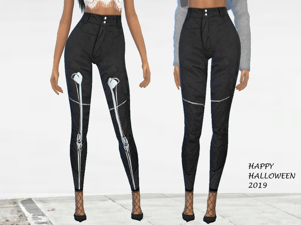Sims 4 Skeleton Pants by Puresim at TSR