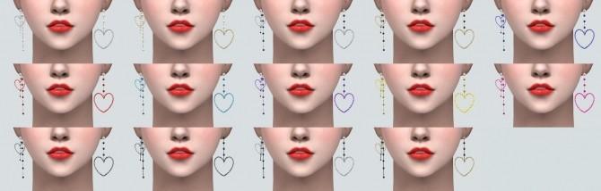 Sims 4 Unbalance 2 Heart Earrings at Marigold