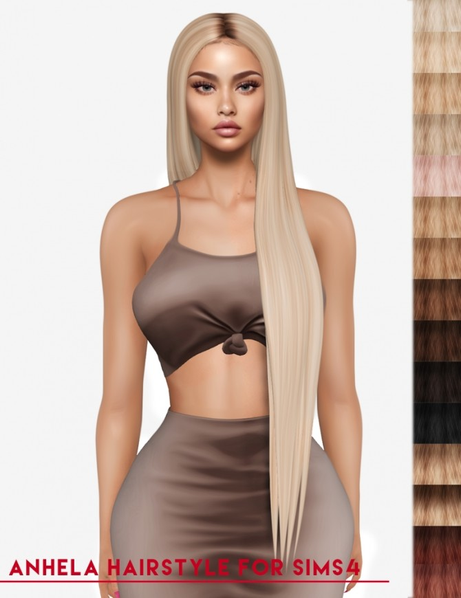 Sims 4 Anhela hairstyle (P) at Luxuriah Sims