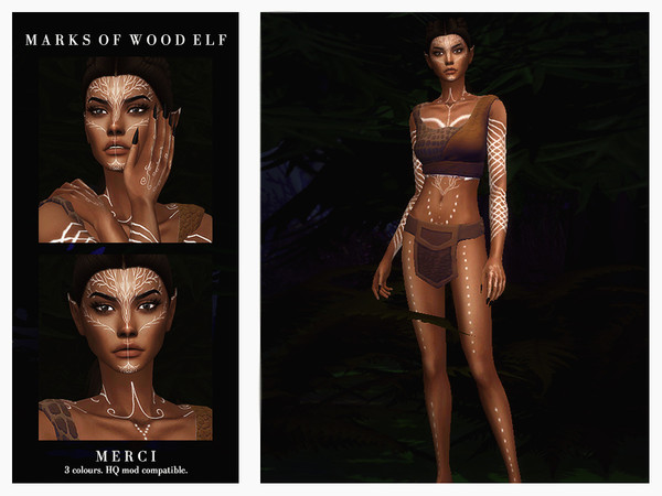 Sims 4 Marks Of Wood Elf by Merci at TSR