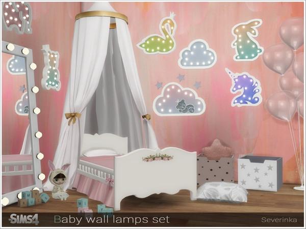 Baby wall lamps set by Severinka at TSR image 3120 Sims 4 Updates