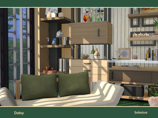 Sims 4 Daisy livingroom by soloriya at TSR