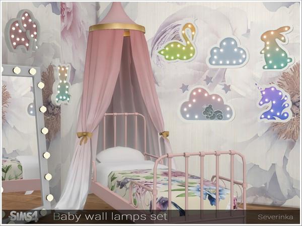 Sims 4 Baby wall lamps set by Severinka at TSR
