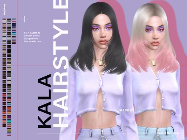 Sims 4 Kala Hair by Leah Lillith at TSR