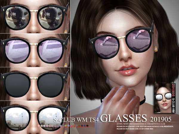Glasses 201905 by S Club WM at TSR image 3314 Sims 4 Updates