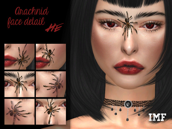 Sims 4 IMF Arachnid Face Detail by IzzieMcFire at TSR