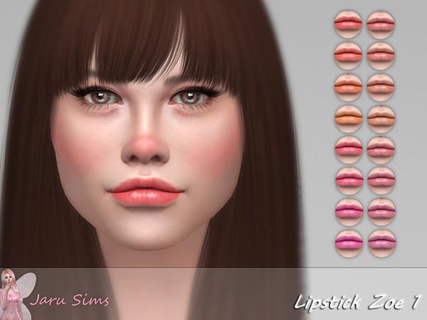 Sims 4 Lipstick Zoe 1 by Jaru Sims at TSR