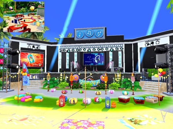 Sims 4 Summer Festival by Mini Simmer at TSR