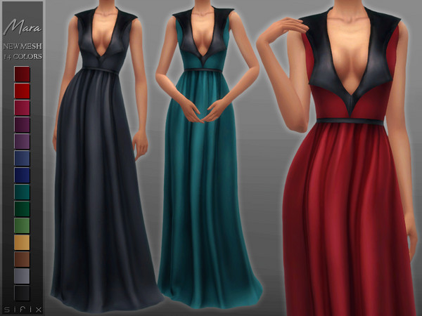 Sims 4 Mara Dress by Sifix at TSR