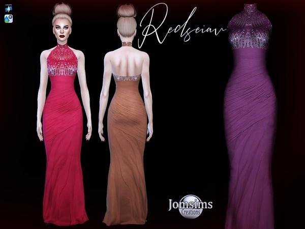 Sims 4 Redseiav dress by jomsims at TSR